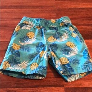 18-24 month boy shorts with pineapples